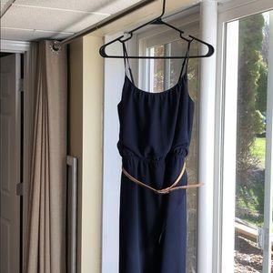 Navy hi-lo dress
